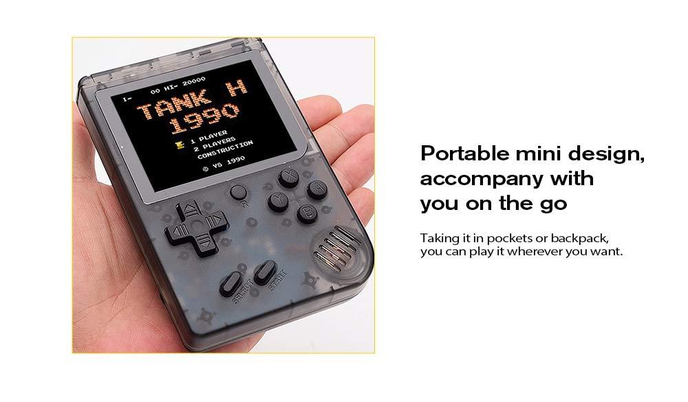 FLYFISH Handheld Game Console, Retro FC Game Console 3 Inch 168 Classic Games , Birthday Present for Children -White by FLYFISH (Image #9)