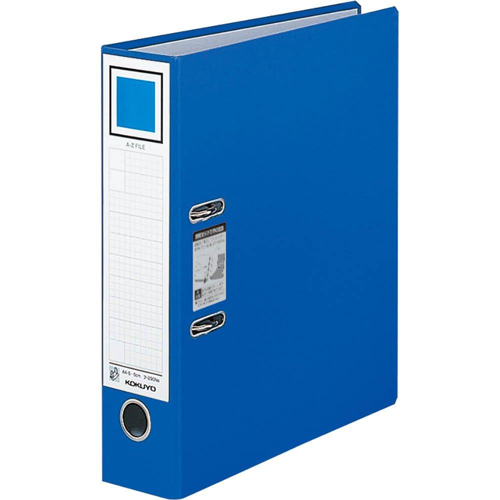 Kokuyo S & T A-Z files A4 length 76mm Blue (japan import)
