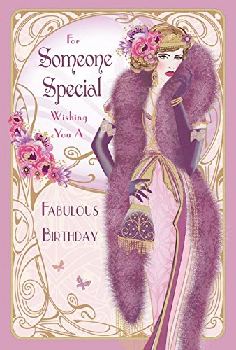 Art deco for someone special wishing you a fabulous birthday happy art deco for someone special wishing you a fabulous birthday happy birthday greetings card with m4hsunfo