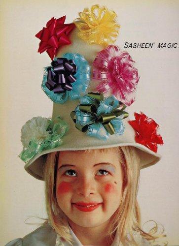 1961 Ad 3M Sasheen Decorette Ribbon Bows Blond Girl - Original Print Ad from PeriodPaper LLC-Collectible Original Print Archive