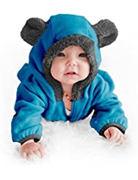 Fleece Baby Bear Bunting Jacket - Infant Winter Snowsuit...
