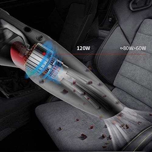 Vide sans Fil Portable Voiture Rechargeable Cleaner Portable Haute puissante Poids léger à Quatre en-Un Aspirateur Argent