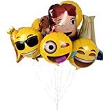 Emoji Universe: Jumbo Foil Emoji Helium Balloons, 12-Pack