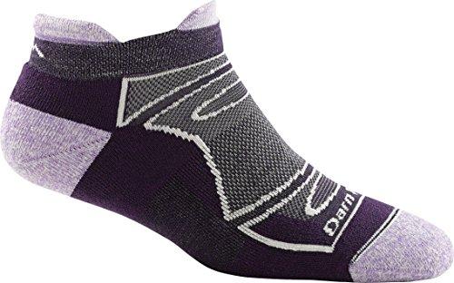 Darn Tough No Show Tab Light Cushion Sock - Women's Team DTV Medium