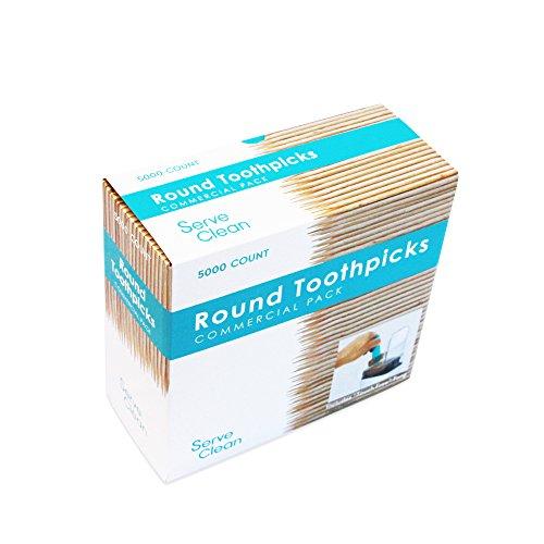 Serve Clean Round Toothpicks, 5000 Count