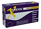 AMMEX - XN46100 - Nitrile Gloves - Xtreme - Disposable, Powdered, Industrial, 4 mil, Large, Blue (Case of 1000)
