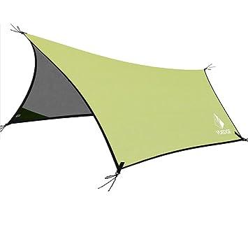 Portable Waterproof Tarps Rain Fly - YUEDGE 10×13 Ft Hammock Tent Tarp Rain Tarps  sc 1 st  Amazon.com & Amazon.com : Portable Waterproof Tarps Rain Fly - YUEDGE 10×13 Ft ...
