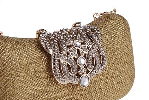 con Shell Evening Champagne Bag Feast Pu Crown fibbia Diamonds regalo Cheongsam Xyqs Square Party Ladies Piccola Hard borsa come Fgw1X1