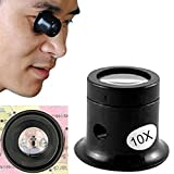 Bihood Magnifying Glass Mirror Jewelers Magnifier Loupe Professional Watch Repair Magnifier Jewelry Diamonds Coins Miniatures Engravings Markings Magnifying Glass for Watch Jewellery Repair 10 Times