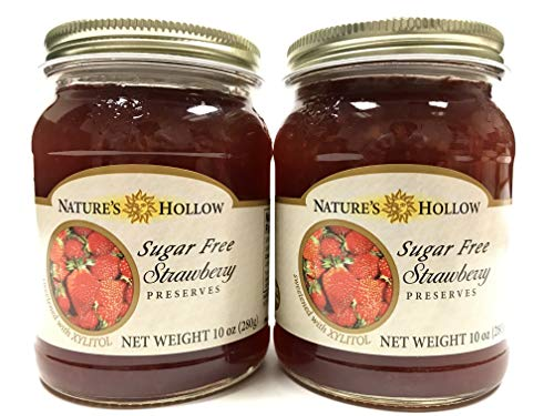(Nature's Hollow Sugar Free Strawberry Preserves 10 oz | 2 pack)