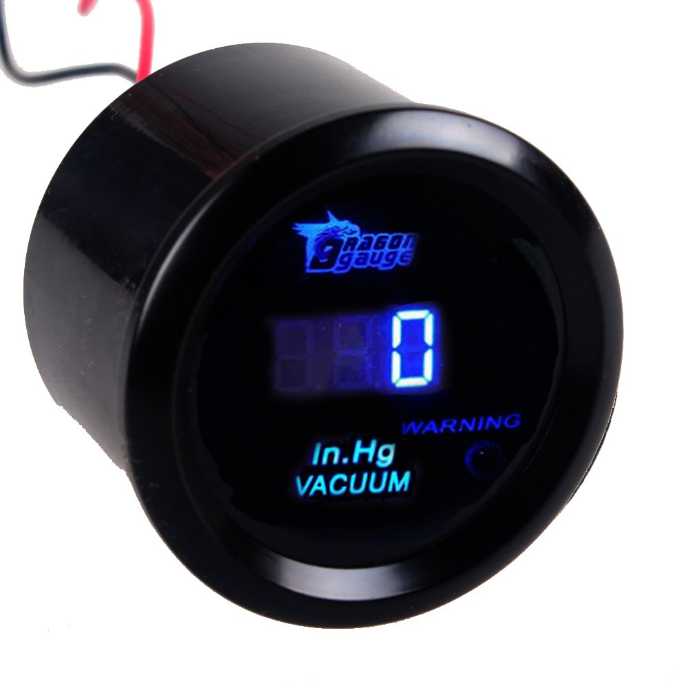 HOUTBY 52mm Car Motor Digital Blue LED Light Display Tacho Tachometer LED Gauge Meter