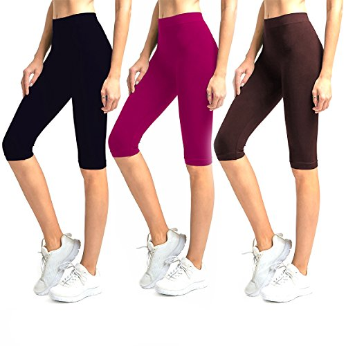Knee Length Spandex Shorts - 4