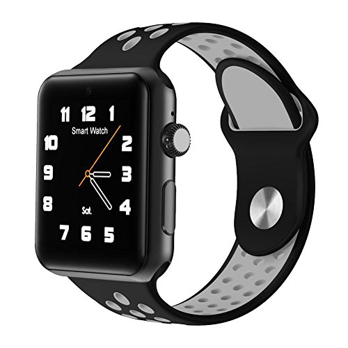 Smart Watch DM09 Plus Bluetooth 4.0 anti-lost Pedometer Sim Card 2G GSM Voice Interactive SMS Gravity Sensor for All Iphones and Android Smartphones Sleep Monitor For Men Women Kids (Black) Dual Technology Glass Break Detector