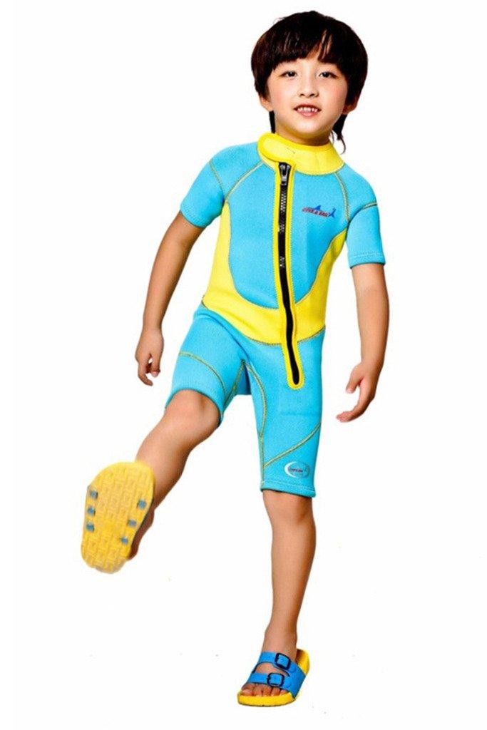 Cokar Kinder Neoprenanzug 2.5MM Einteiler mit Rückenreißverschluss Lang Sonnenschutz Wassersport B01MU0LYFW Neoprenanzüge Wartungsfähigkeit