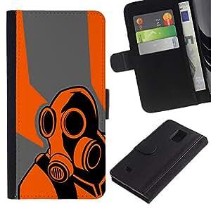 Stuss Case / Funda Carcasa PU de Cuero - B0rderlands juego Psycho - Samsung Galaxy Note 4 IV