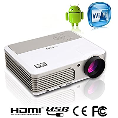 EUG mini LED Projector Home Cinema 2600 Lumen HDMI USB VGA 3.5mm AV Multimedia LCD Projectors for iPad TV Video Games Outdoor Entertainment
