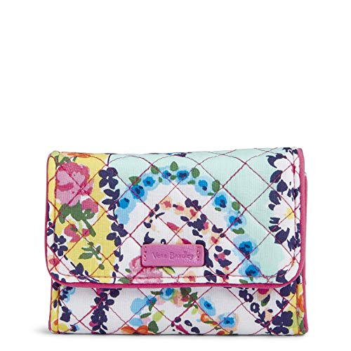 Zipped Compact Wallet - Vera Bradley Iconic RFID Riley Compact Wallet, Signature Cotton, Wildflower Pais
