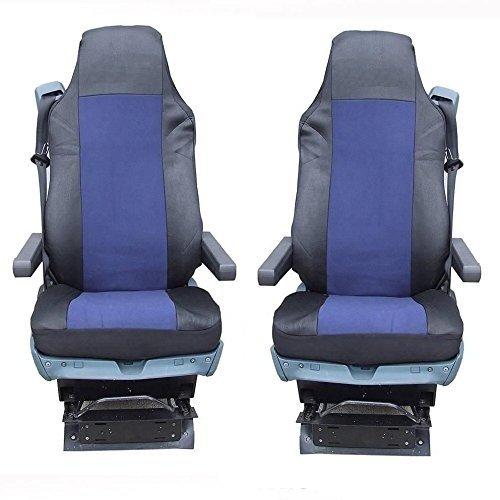 2x LKW Sitzbezüge Rot-Schwarz Schonbezüge für DAF XF105 XF 105 CF LF 95