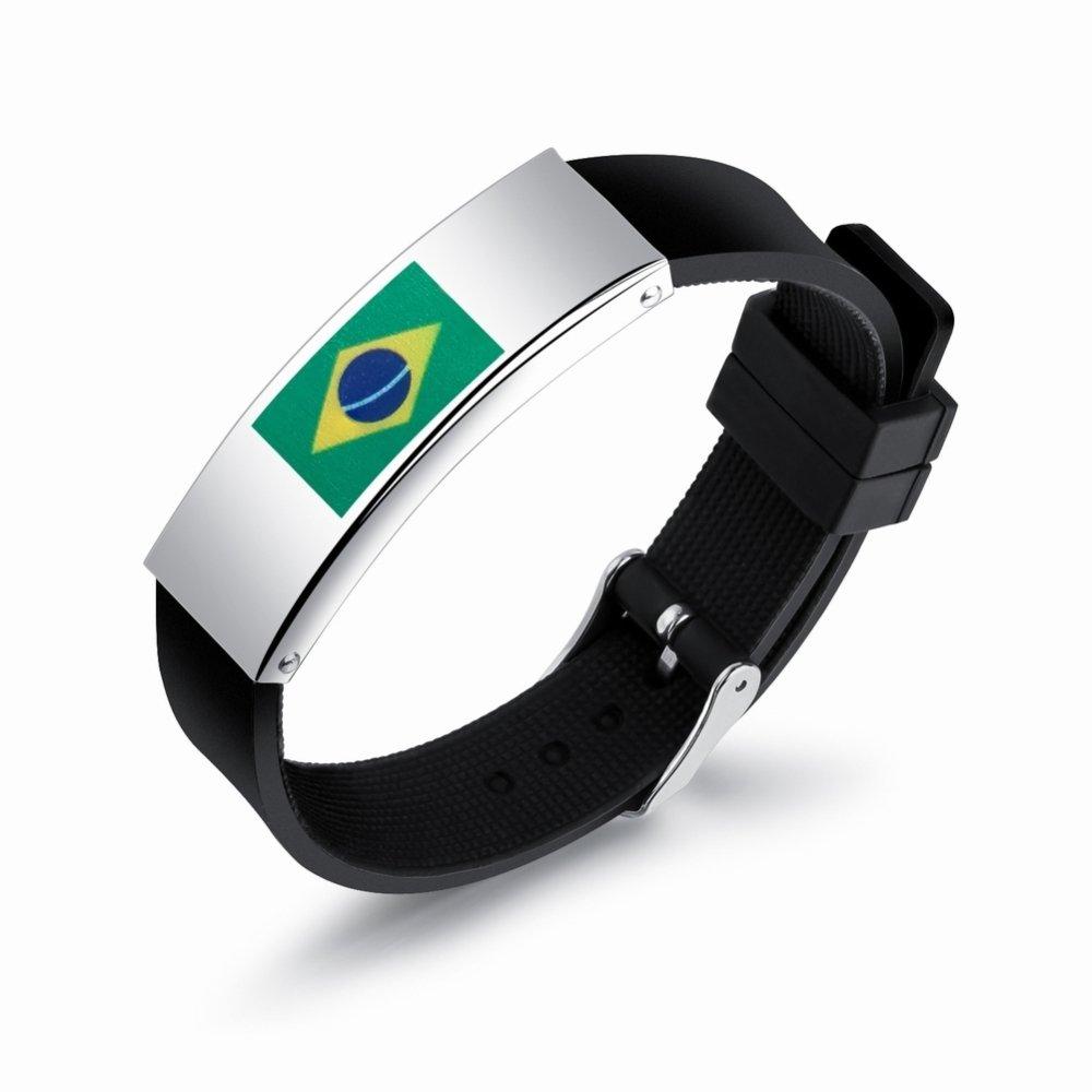 Aficionados al fú tbol alrededor de la pulsera de las banderas nacionales de la Copa Mundial de pulsera de los ventiladores de la personalidad de la pulsera de los hombres de silicona, Argentina, Un tamañ o VIOY Un tamaño VIOY