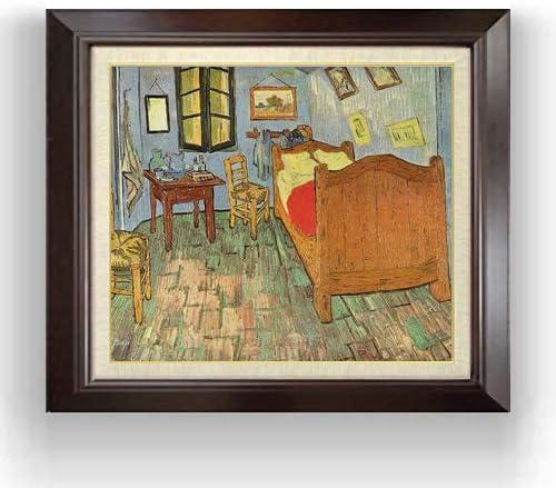 ゴッホ ファン・ゴッホの寝室 (2) F10 油絵直筆仕上げ| 絵画 10号 複製画 ブラウン額縁 675×601mm