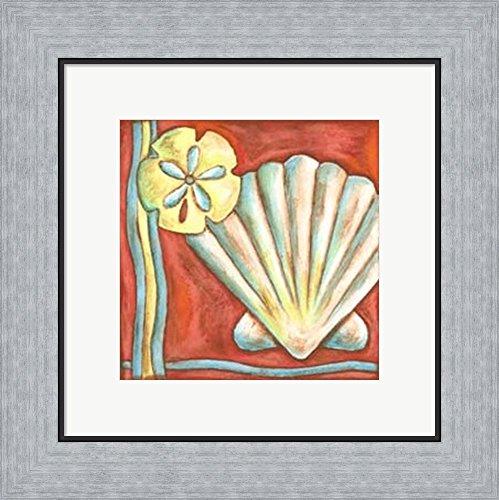 Nancy Slocum Pop - Pop Shells I by Nancy Slocum Framed Art Print Wall Picture, Flat Silver Frame, 16 x 15 inches