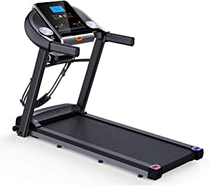 AMAZOM Electric Folding Treadmill Motorized Running and Jogging Machine with Speakers for Home Use