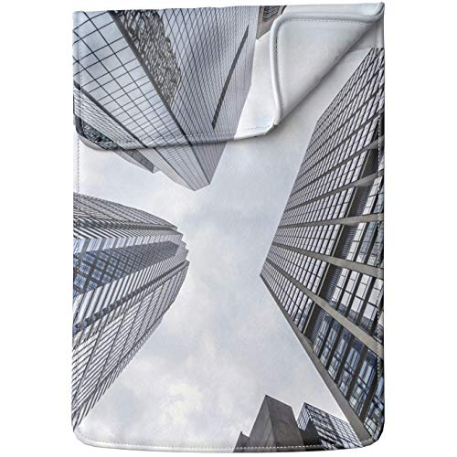 Lex Altern Tablet Sleeve Case for iPad Pro 12.9 11 10.5 9.7 inch Mini 5 4 3 2 1 Air 2 2019 2018 2017 5th 6th 3rd Gen City Architecture Skyscraper Sky Downtown Wall Street Leather Cover Protective ()