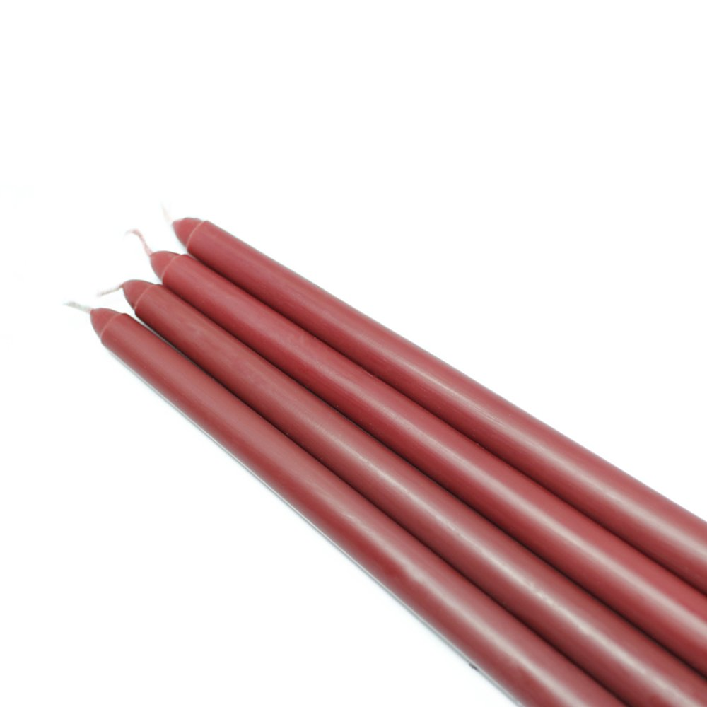 Zest Candle CEZ-073_12 144-Piece Taper Candle, 12'', Burgundy by Zest Candle (Image #1)