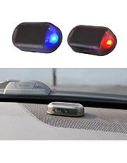 Alarminstallatie auto, solar powerdummy auto alarm led licht simuleren imitatie waarschuwing anti-diefstal knipperlicht auto alarminstallatie diefstalbeveiliging voor auto veiligheidssysteem blauw