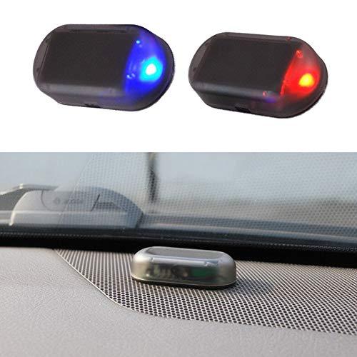 Kylewo Alarm dummy voor de auto, op zonne-energie, ledverlichting op zonne-energie, anti-diefstal waarschuwingslichten