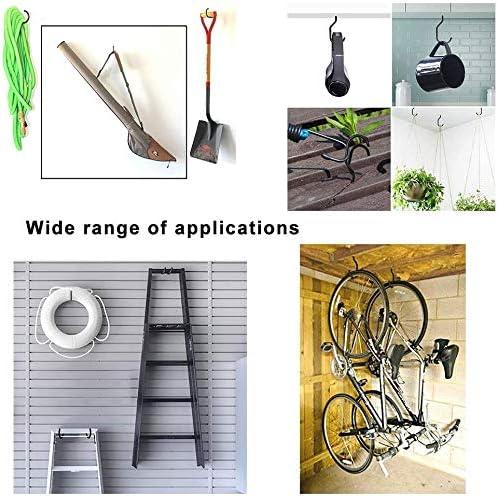 Garage Storage Utility Hooks Hanger for Garage Wall Ceiling Bicycle Storage 5 Pack Heavy Duty Bike Hooks