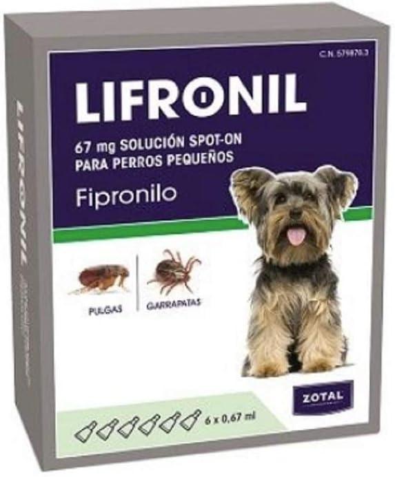 Zotal LIFRONIL FIPRONILO Perros PEQUEÑOS 6 PIPETAS: Amazon.es ...