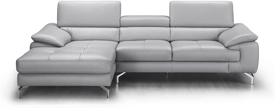 J and M Furniture 18273-LHFC Liam Premium Leather Sectional Chaise