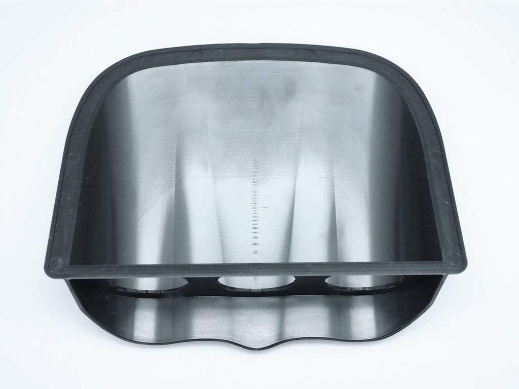 Universal Triple 52mm Gauge Meter Dash Board Pod Flate Base Black CarLab 1