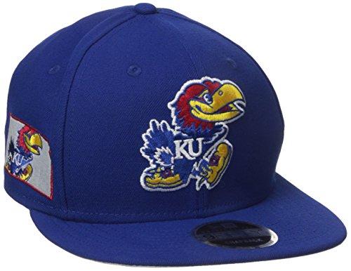 New Era NCAA Kansas Jayhawks State Clip Snap 9FIFTY Cap, One Size, Blue -