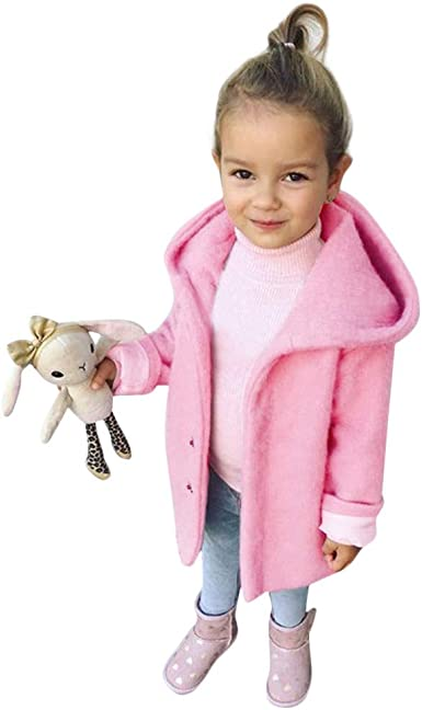 KONFA Teen Toddler Baby Girls Winter Warm Clothes,Fur Hooded Cotton Down Jacket Coat,Kids Butterfly Print Snowsuit Set