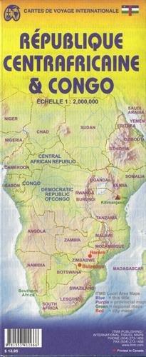 Congo & Central Afican Republic 1:2 000 000 ITMB (International Travel Maps)