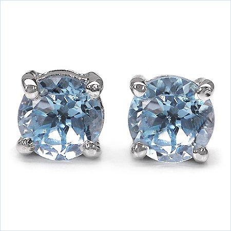 Bijoux Schmidt-Boucles d'oreille en argent sterling 925 topaze rhodium-0, 70 carats
