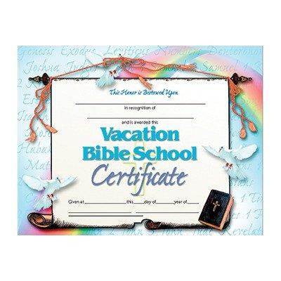 printable vacation bible school certificates  Amazon.com : Vacation Bible School Certificate (Set of 30) : Blank ...