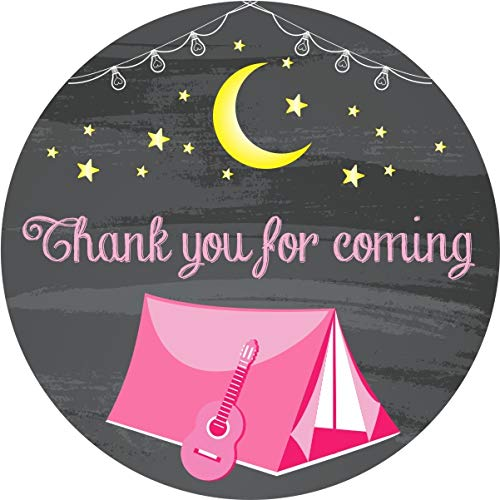 Outdoor Camping Personalized Party Thank You Cards