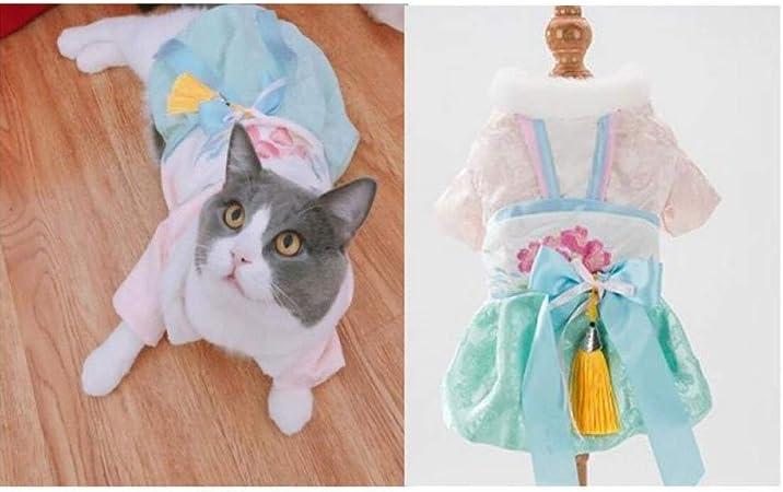 liangh Traje De Gato,Vestido De Caballero,Mascotas Vestidos De Princesa para Bodas De Gatos,Traje De Navidad para Año Nuevo con Ropa De Cola Golondrina,M-M: Amazon.es: Hogar