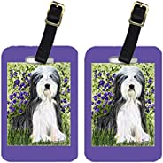 Caroline's Treasures SS8022BT Pair of 2 Bearded Collie Luggage Tags, Large, Multic