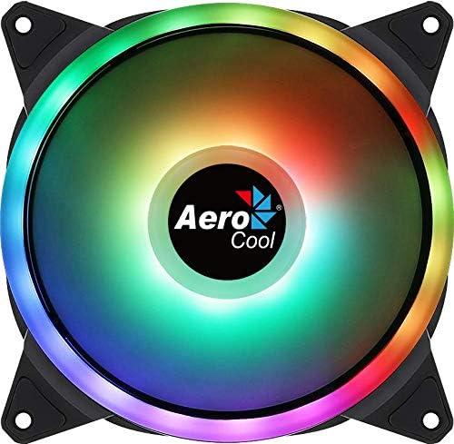 Anti-Vibration 140-mm-L/üfter 6 Pins AeroCool DUO14 ARGB LED-Doppelring