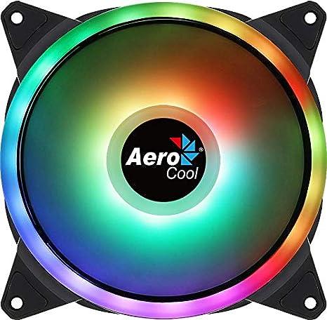 Aerocool DUO14, Ventilador 140mm, ARGB LED Dual Ring ...