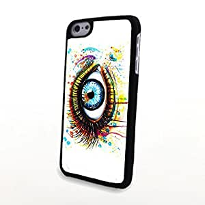 linJUN FENGGeneric PC Phone Cases Compatible with iphone 6 4.7 inch Charming Blue Tone Beautiful Soulful Deep Eyes Matte Pattern