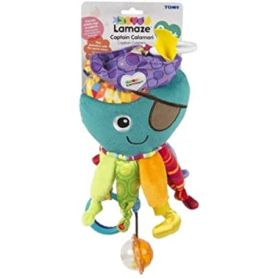 Lamaze Clip on Toy, Captain Calamari : Car Seat Toys : Baby