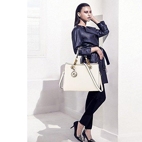 Tote White Leather Womens Faux Ladies Handbag New Shoulder Bag pTg1Cz
