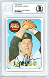 Johnny Podres Autographed 1969 Topps Card Autographed #659 San Diego Padres - Beckett Authentic