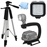 Advanced Professional ACTION Kit: Pro Tripod + Pro Stabilizing Grip + LED Video Light For Canon XA30, Video Light, Tri-pod, Scorpion Grip, Multipurpose Camcorder/Camera Studio Support