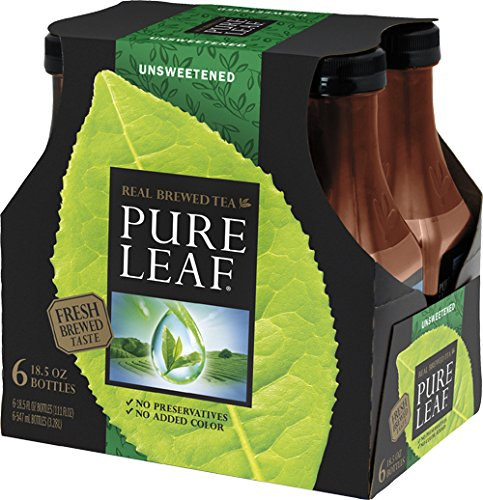 Pure Leaf, Unsweet Tea, 18.5 oz (1 Pack of 6 bottles)